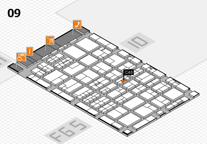 MEDICA 2016 hall map (Hall 9): stand C46