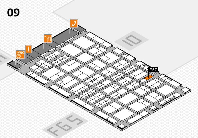 MEDICA 2016 hall map (Hall 9): stand E57