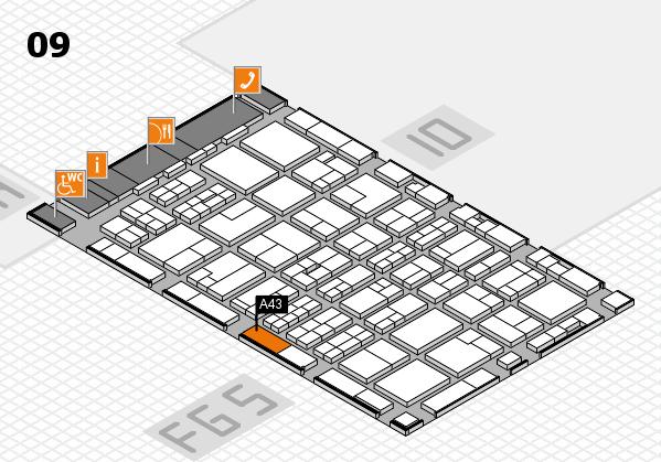 MEDICA 2016 hall map (Hall 9): stand A43