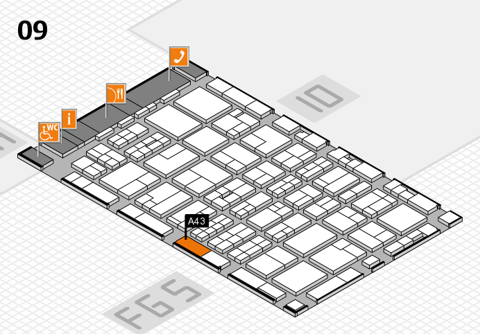 MEDICA 2016 hall map (Hall 9): stand A43
