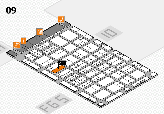 MEDICA 2016 hall map (Hall 9): stand A32