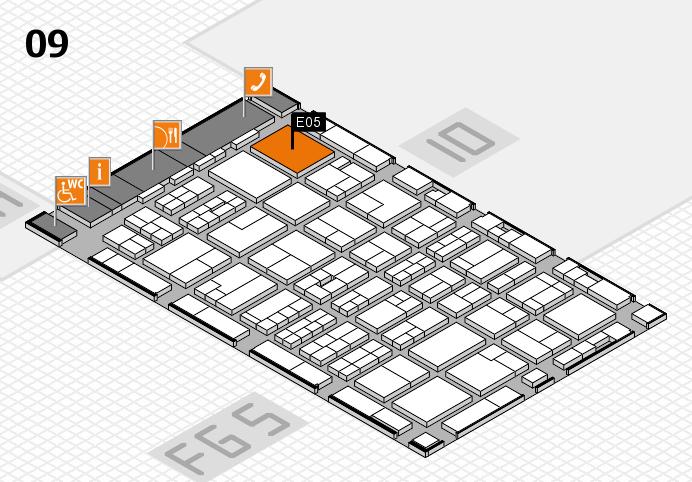 MEDICA 2016 hall map (Hall 9): stand E05