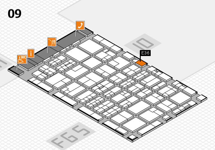 MEDICA 2016 hall map (Hall 9): stand E36
