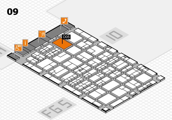 MEDICA 2016 hall map (Hall 9): stand D05