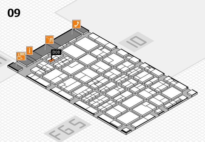 MEDICA 2016 hall map (Hall 9): stand B08