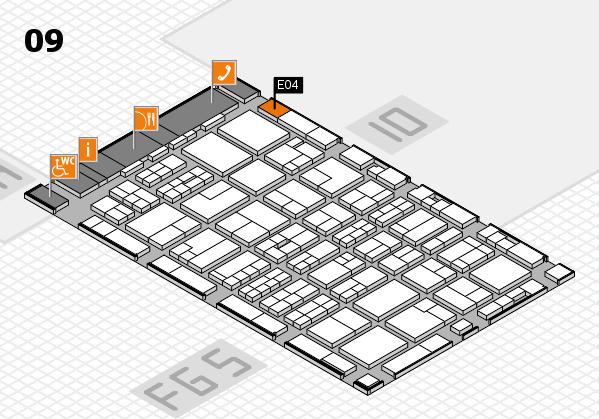 MEDICA 2016 hall map (Hall 9): stand E04