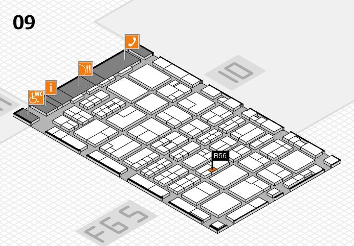 MEDICA 2016 hall map (Hall 9): stand B56