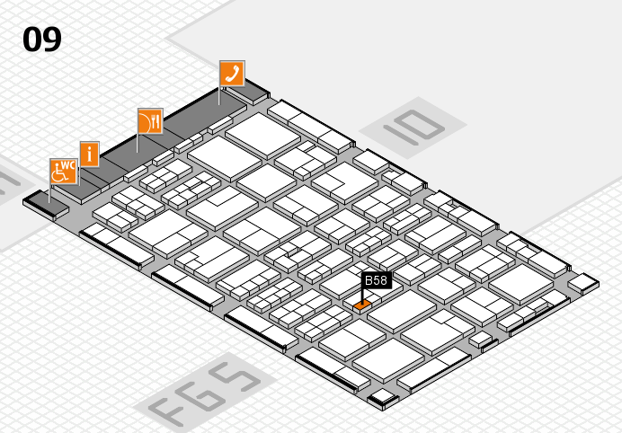 MEDICA 2016 hall map (Hall 9): stand B58