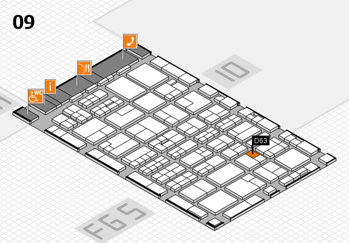 MEDICA 2016 hall map (Hall 9): stand D63