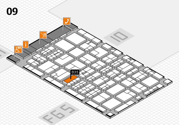 MEDICA 2016 hall map (Hall 9): stand B35