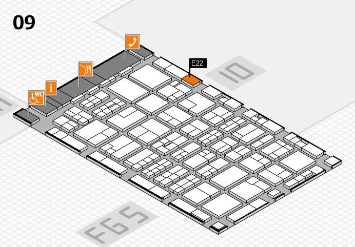 MEDICA 2016 hall map (Hall 9): stand E22