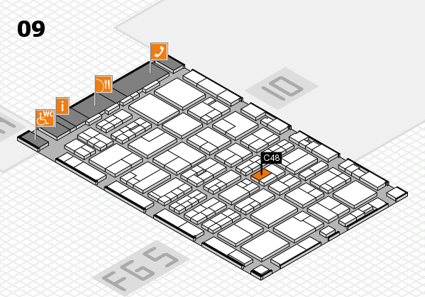 MEDICA 2016 hall map (Hall 9): stand C48