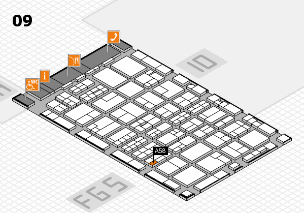 MEDICA 2016 hall map (Hall 9): stand A58