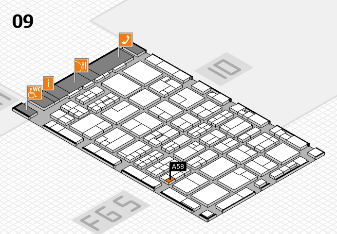 MEDICA 2016 hall map (Hall 9): stand A58
