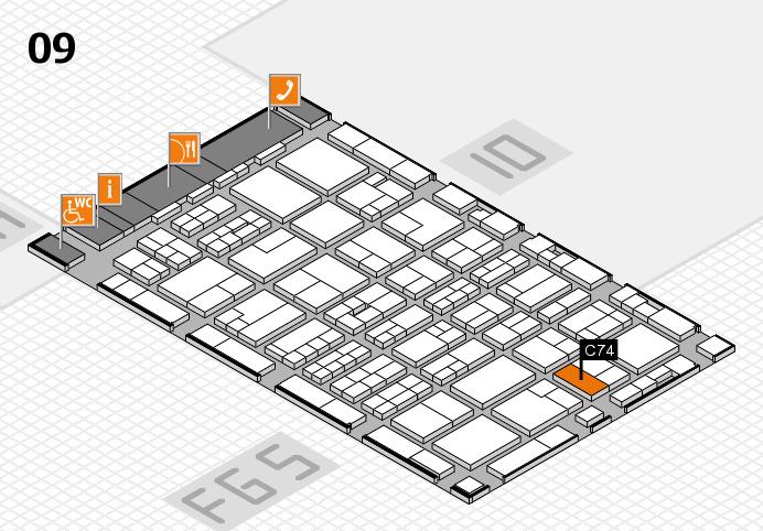 MEDICA 2016 Hallenplan (Halle 9): Stand C74