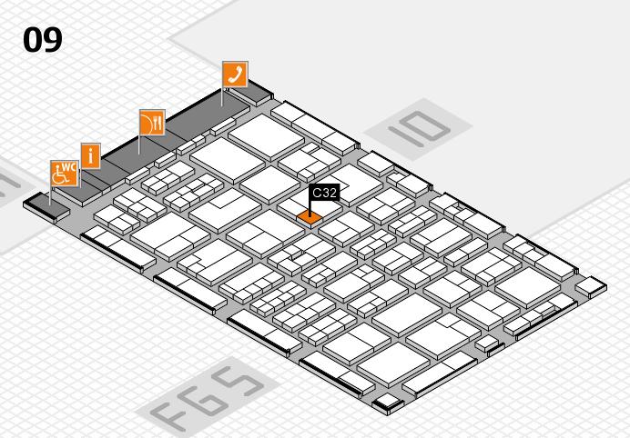 MEDICA 2016 hall map (Hall 9): stand C32