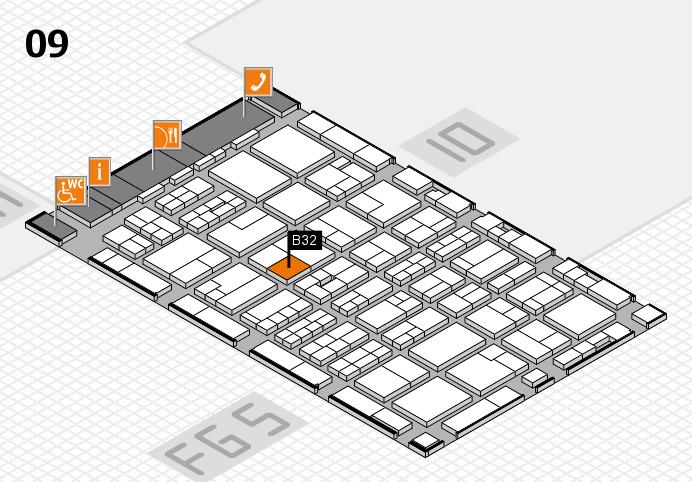 MEDICA 2016 hall map (Hall 9): stand B32
