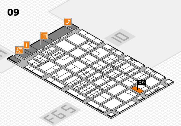 MEDICA 2016 hall map (Hall 9): stand C74