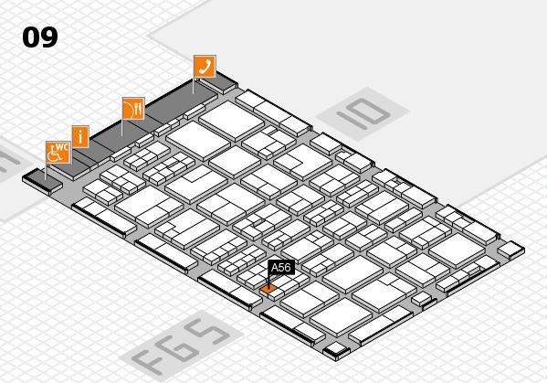 MEDICA 2016 hall map (Hall 9): stand A56