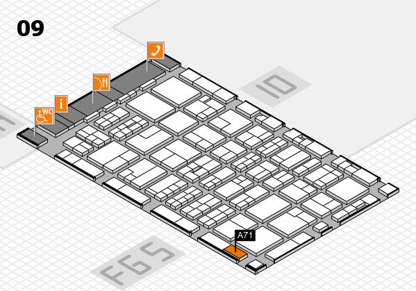 MEDICA 2016 hall map (Hall 9): stand A71
