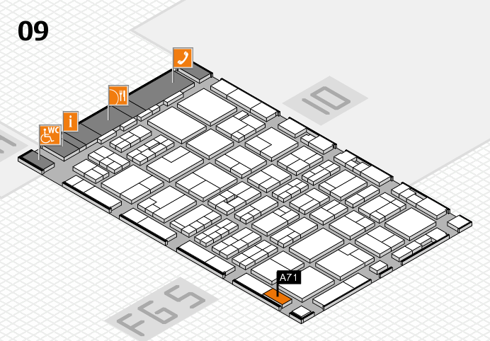 MEDICA 2016 hall map (Hall 9): stand A71