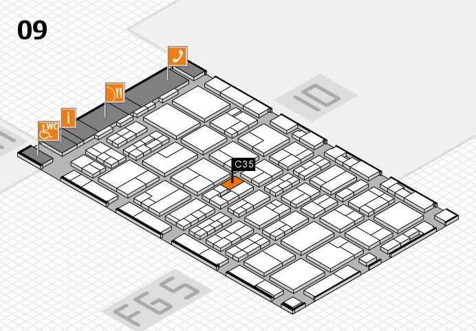 MEDICA 2016 hall map (Hall 9): stand C35