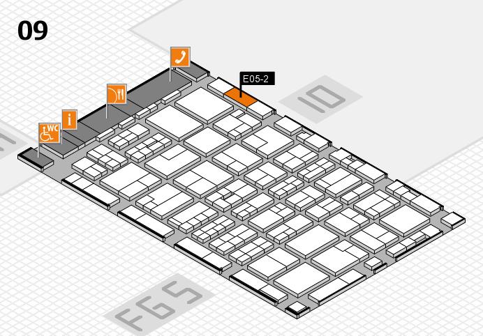 MEDICA 2016 hall map (Hall 9): stand E05-2