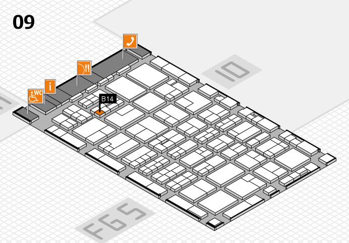 MEDICA 2016 hall map (Hall 9): stand B14