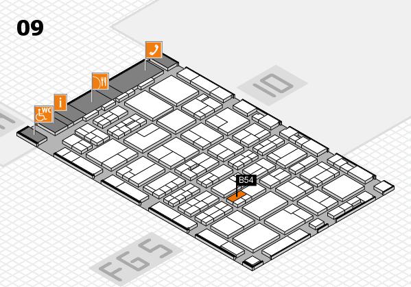 MEDICA 2016 hall map (Hall 9): stand B54