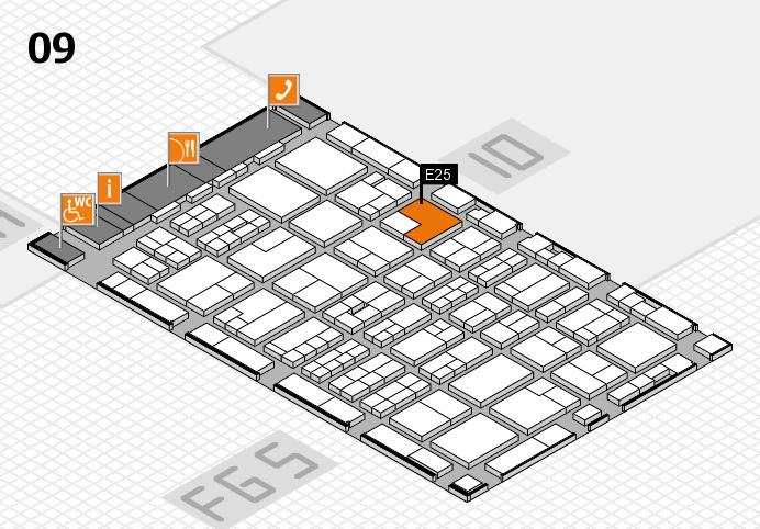 MEDICA 2016 hall map (Hall 9): stand E25