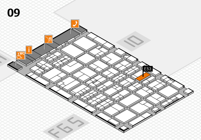 MEDICA 2016 Hallenplan (Halle 9): Stand E53