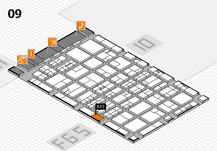 MEDICA 2016 hall map (Hall 9): stand A55
