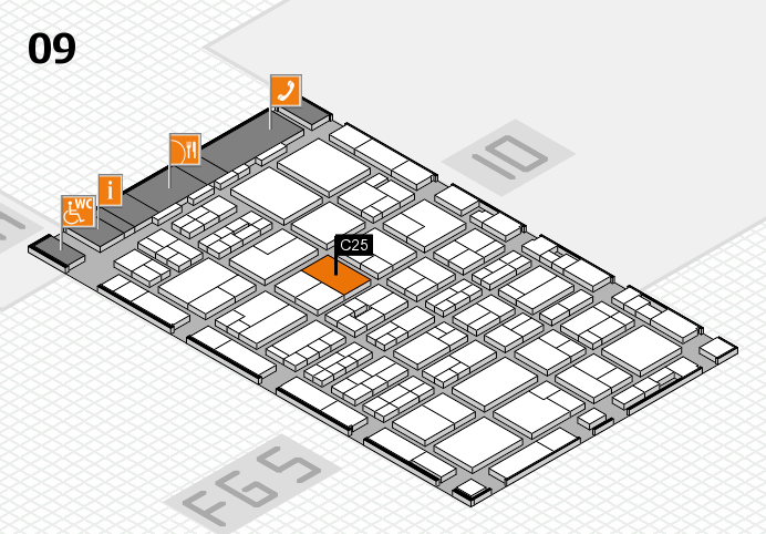 MEDICA 2016 hall map (Hall 9): stand C25