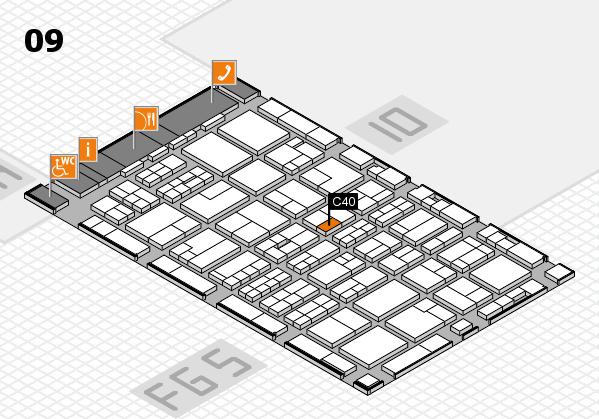 MEDICA 2016 hall map (Hall 9): stand C40