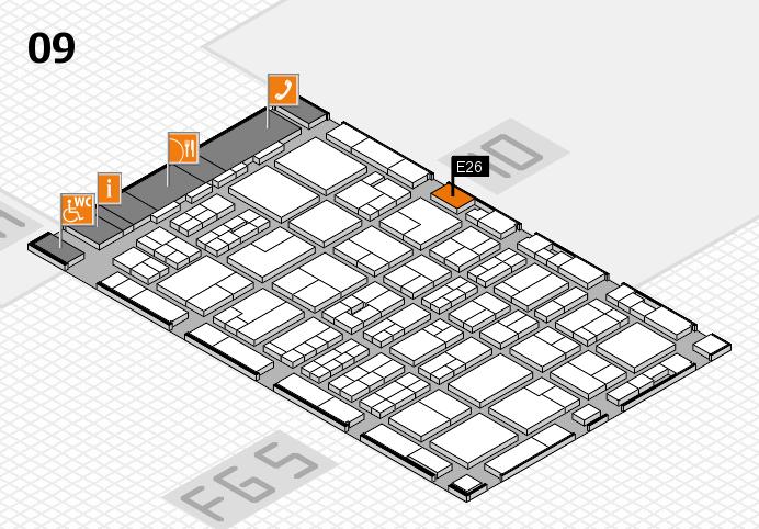 MEDICA 2016 hall map (Hall 9): stand E26