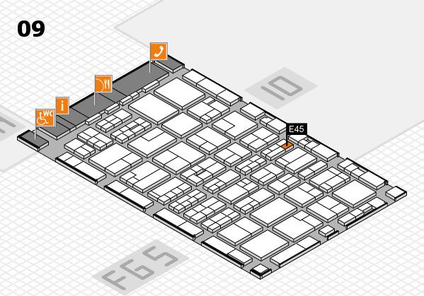 MEDICA 2016 hall map (Hall 9): stand E45