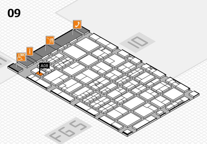 MEDICA 2016 hall map (Hall 9): stand A08