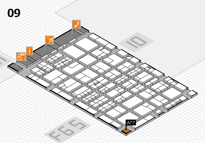 MEDICA 2016 hall map (Hall 9): stand A77