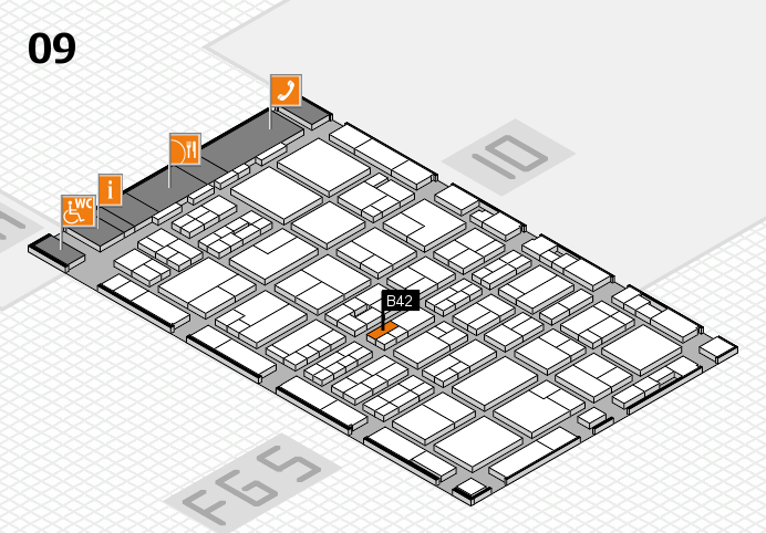 MEDICA 2016 hall map (Hall 9): stand B42