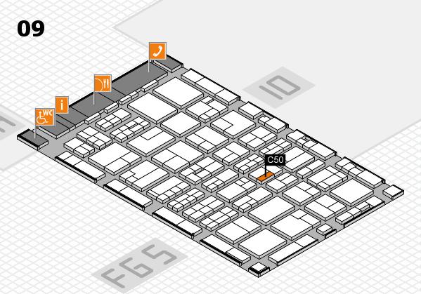 MEDICA 2016 hall map (Hall 9): stand C50