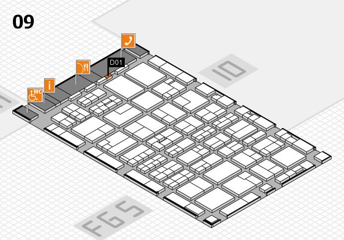 MEDICA 2016 hall map (Hall 9): stand D01