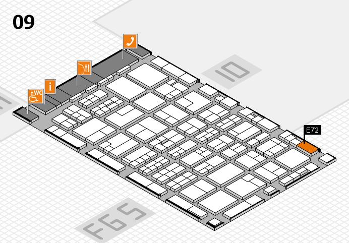 MEDICA 2016 hall map (Hall 9): stand E72