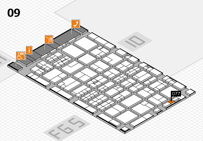 MEDICA 2016 hall map (Hall 9): stand D77