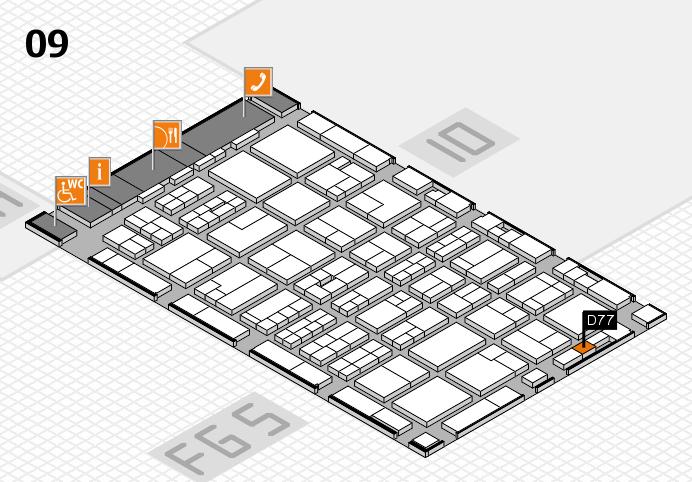MEDICA 2016 hall map (Hall 9): stand D77