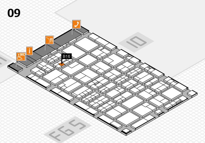 MEDICA 2016 hall map (Hall 9): stand B16
