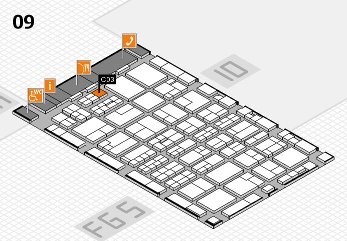 MEDICA 2016 hall map (Hall 9): stand C03