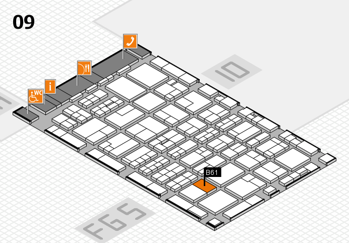 MEDICA 2016 hall map (Hall 9): stand B61