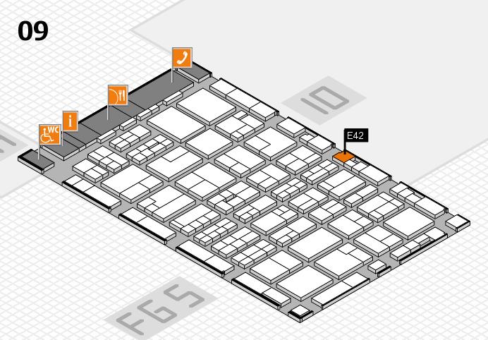 MEDICA 2016 Hallenplan (Halle 9): Stand E42