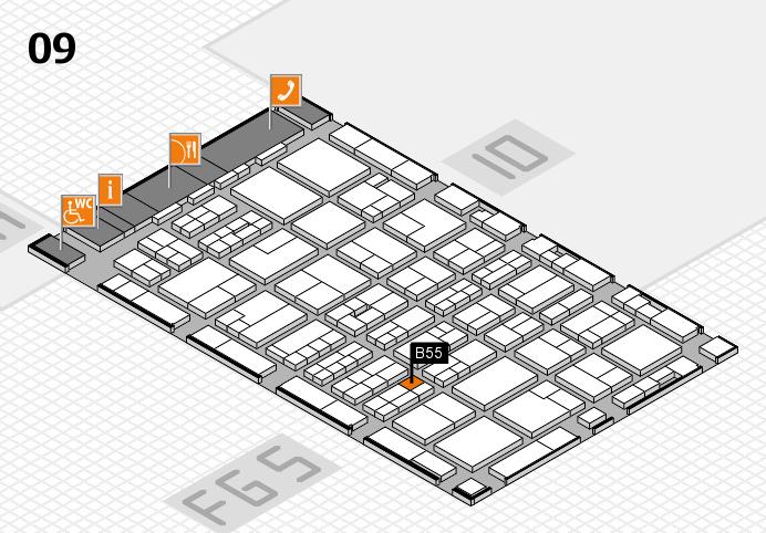 MEDICA 2016 hall map (Hall 9): stand B55
