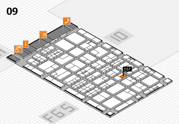 MEDICA 2016 hall map (Hall 9): stand D57